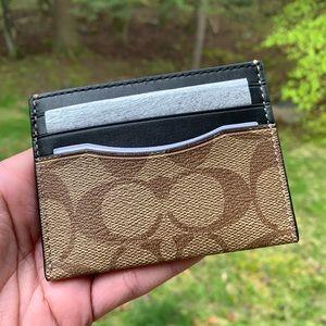 Authentic Coach signature leather/calf cad case/ID